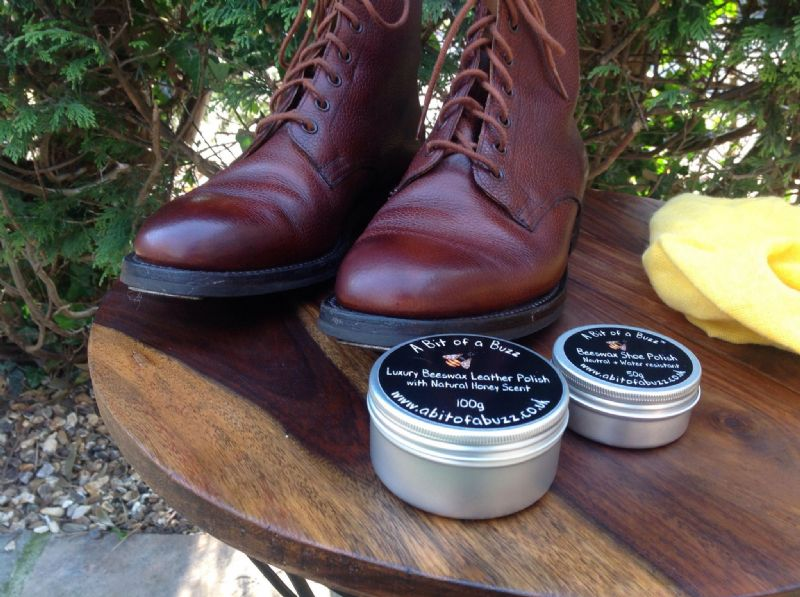 Beeswax Leather Shoe &  Boot Polish 50g